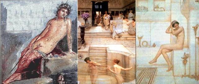 donne romane al bagno
